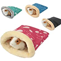 None/Brand Hamster Sleeping Bag, Winter Soft Warm Bed Plush Small Pet Nest Snuggle Sack Hideout Pouch for Hedgehog…