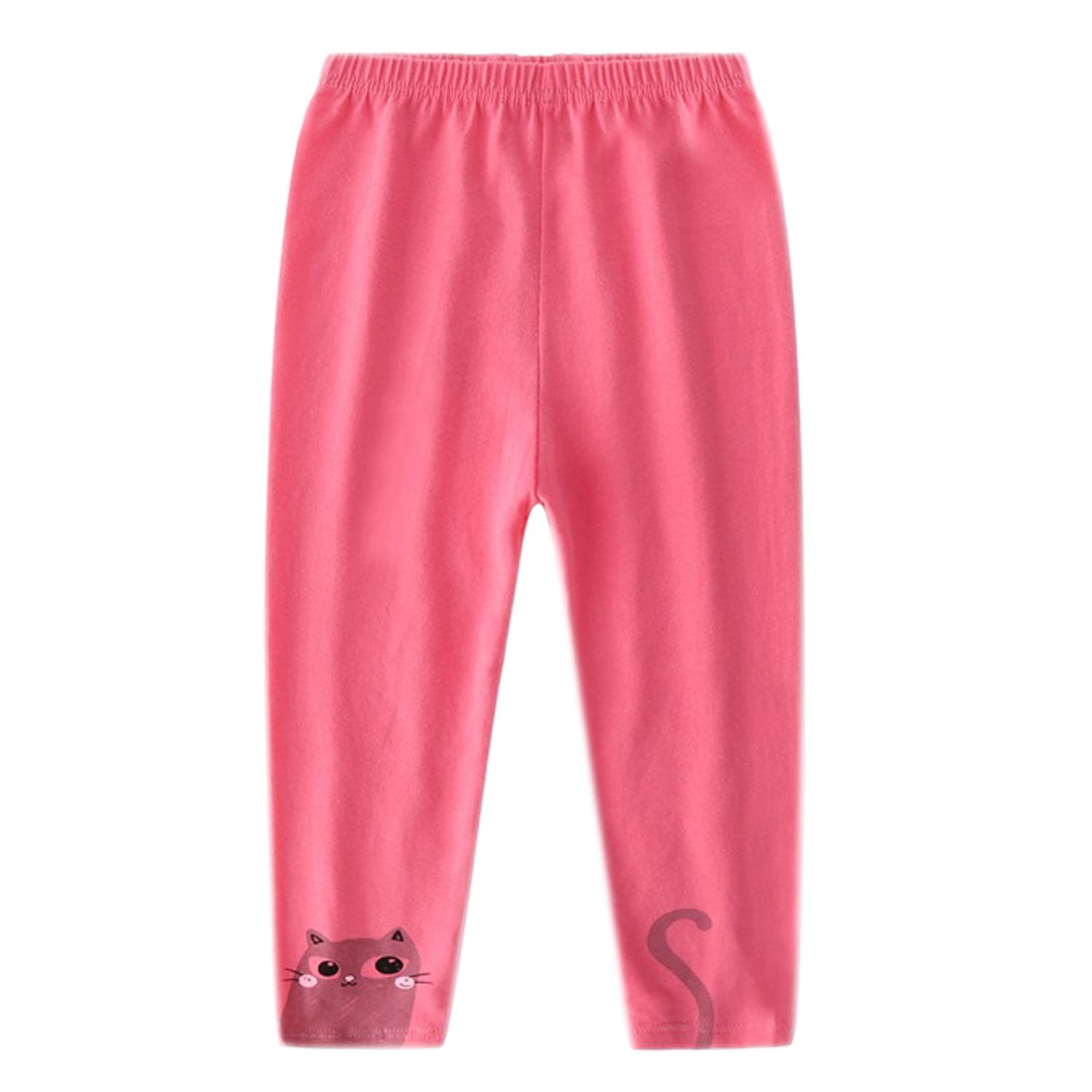 Evelin LEE 4 Packs Baby Girls Cotton Stretchy Tapered Pants Cute Skinny Pajamas Leggings by Evelin LEE (Image #4)