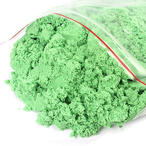 Quietcloud 500g/Pack Motion Moving Magic Children Play Sand DIY Dynamic Sand Craft Kids Toy (Green)