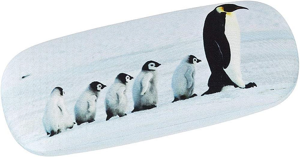 VON LILIENFELD Brillenetui Pinguine Leicht Box Hardcase Edel Geschenk Stabil Set mit Putztuch Damen Herren Kinder