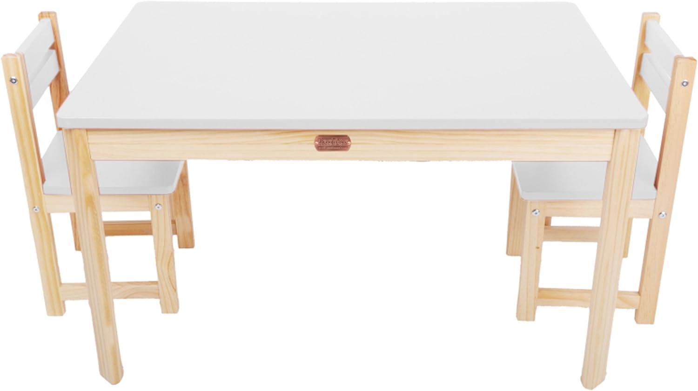 PEGANE Ensemble Table rectangulaire et 2 chaises pour Enfant