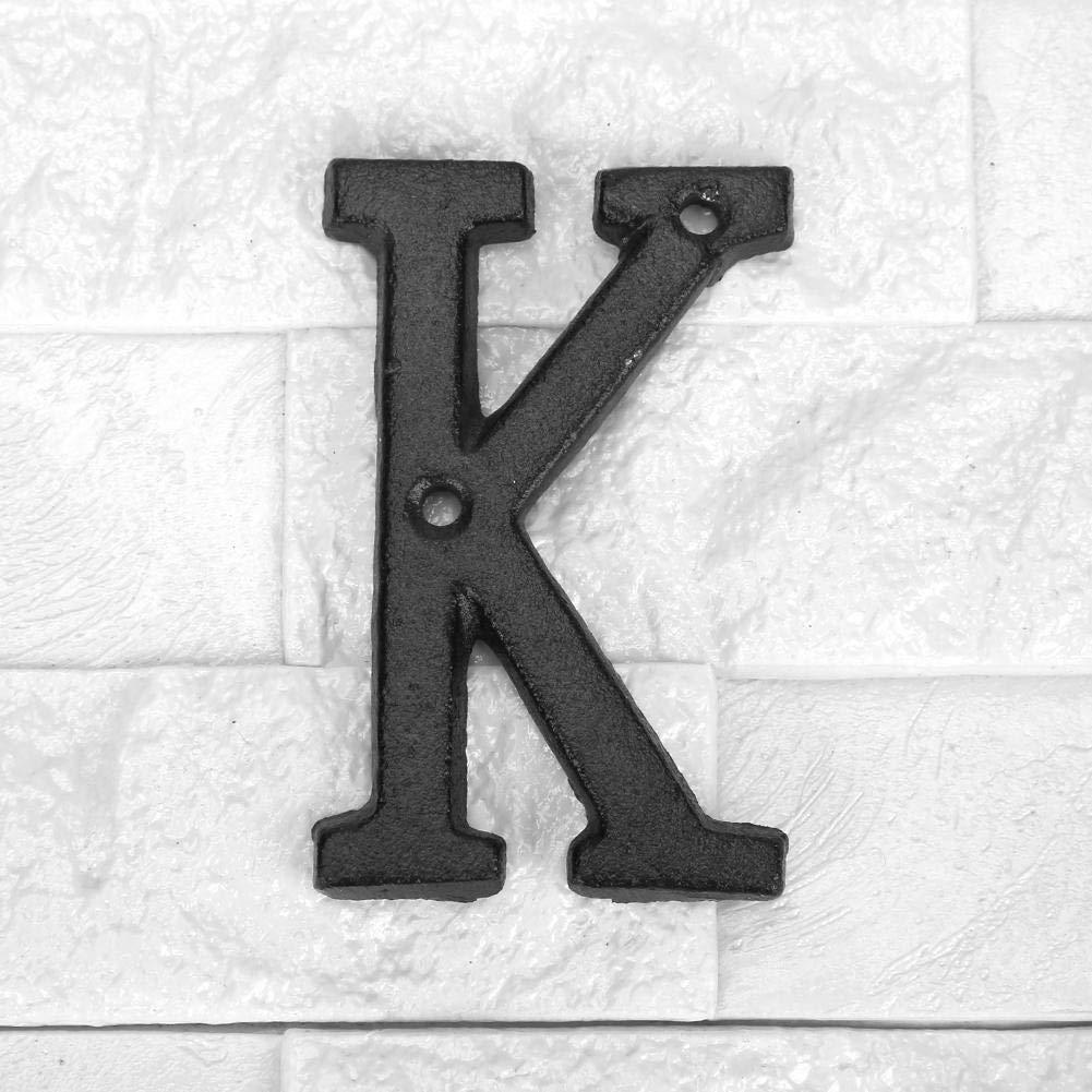 Domybest Lettes Alphabet de Maison en M/étal Lettres Plaques Signes de Porte Rue Num/éro de Maison avec Vis de Fixation