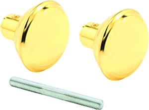 Prime-Line Products E 2297 Solid Brass Vintage Style Door Knobs, 2-3/16 in. Outside Diameter, 2 Set Screws