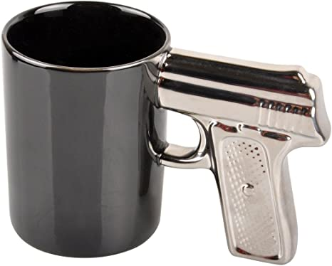 Ceramic Coffee Mugs Gun Mugs Pistol Cup for amazing gift for gun lovers