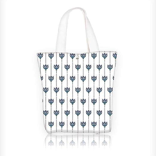 Bolsa de lona con diseño de flores y estampado de ámbar ...