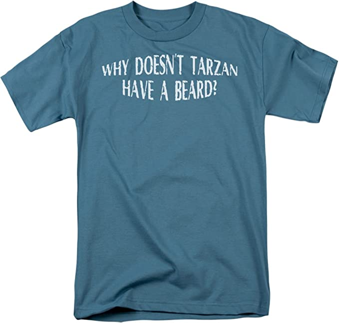 Funny Tees - - Hombres de Tarzán tiene barba camiseta
