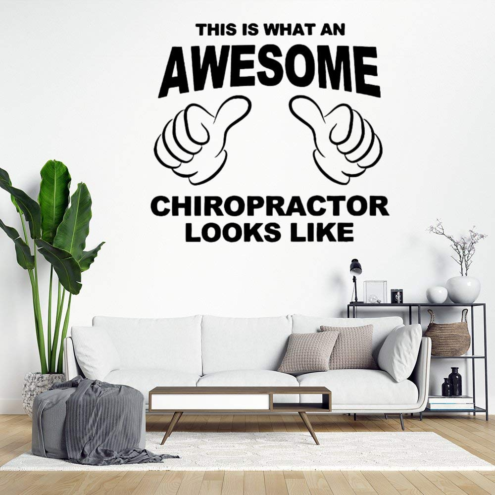 This is What an Awesome Chiropractor Looks Like Wall Sticker,Funny Quote Vinyl Wall Decal,Decor for Windows,Living Room,Bumper,Laptop,Tumbler,Bathroom Home Decor