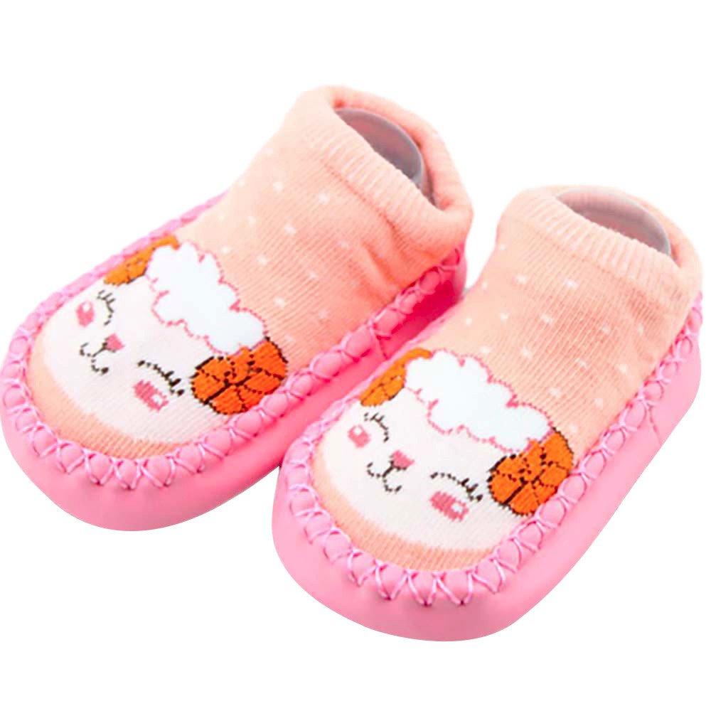 VEKDONE Toddler Kids Cute Thick Warm Non-Slip Cozy Socks Winter (J, 6-12M/12)