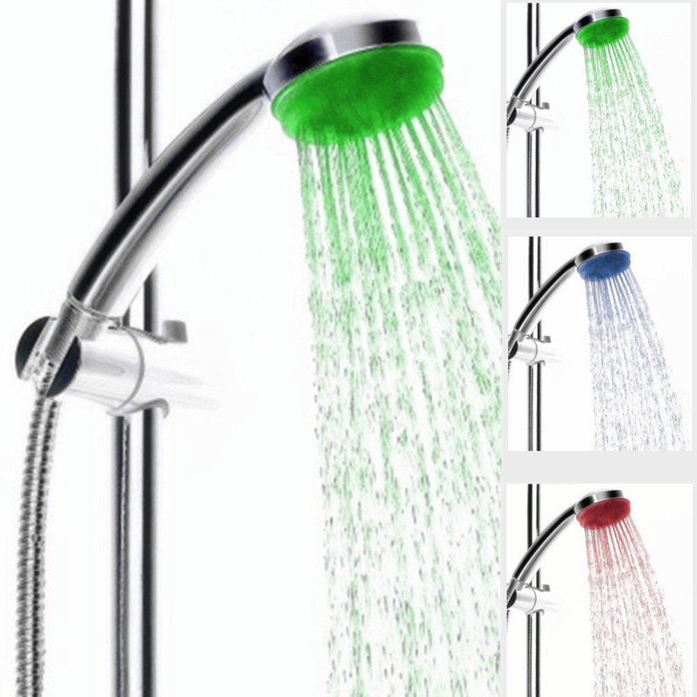 IceMoon Colour Changing LED Shower Head, Colour Changes with ...