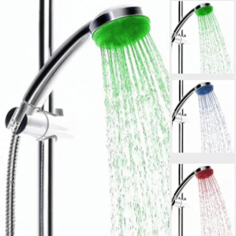 Search For Flights Colorful Led Shower Head Changing Shower Head No Battery Led Waterfall Shower Head Round Showerhead 7-color Bathroom Accessories Bathroom Fixtures