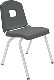 "product image for 16"" Creative Colors Split Bucket Chair in Graphite with Platinum Silver Frame and Self-Leveling Nickel Glide"