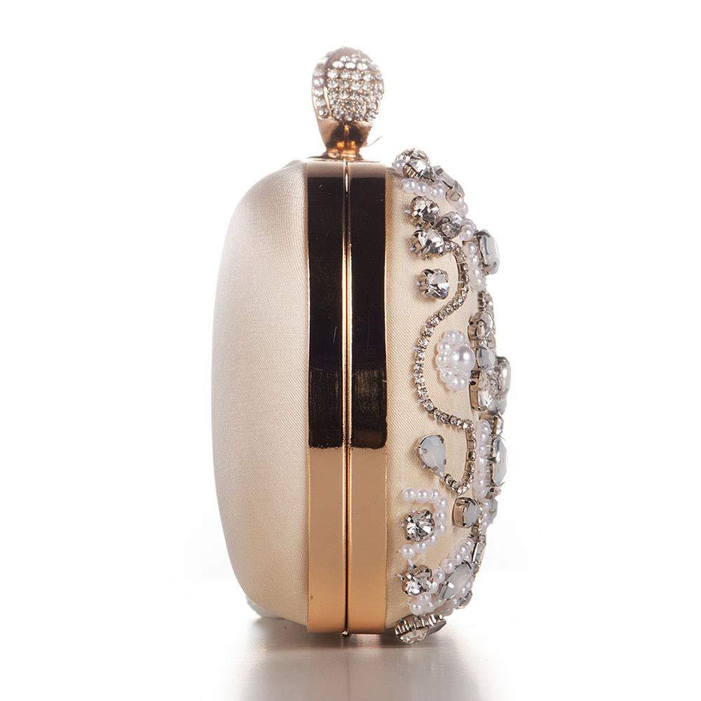 FELICIOO Handgemachte gestickte Perle Abendtasche Abendtasche weiblichen weiblichen weiblichen Beutel Braut Tasche (Farbe   Weiß) B07Q2SVQNZ Clutches Flagship-Store 14b9a5