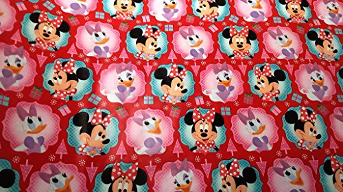 [Christmas Wrapping Minnie Mouse Daisy Duck Holiday Paper Gift Greetings 1 Roll Design Festive Wrap Disney Bowtique] (Infant Red Minnie My First Disney Costumes)
