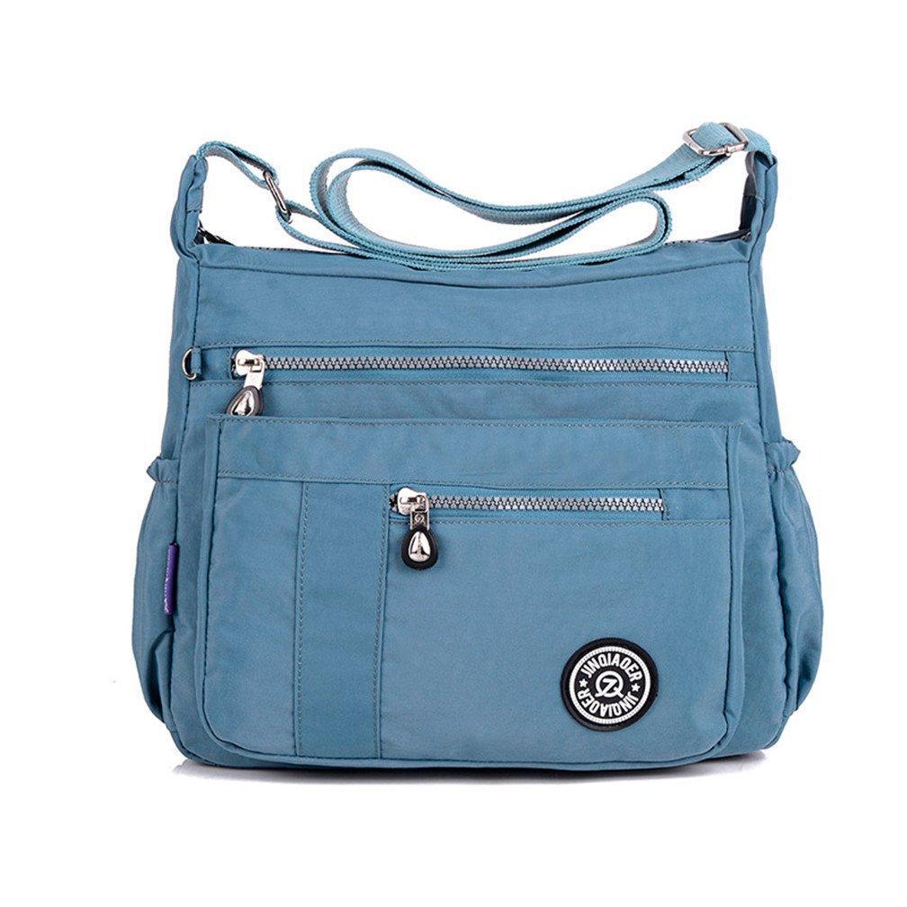 TianHengYi Womens Lightweight Nylon Cross-body Shoulder Bag Casual Messenger Bag with Zipper Pockets thy-gsr110