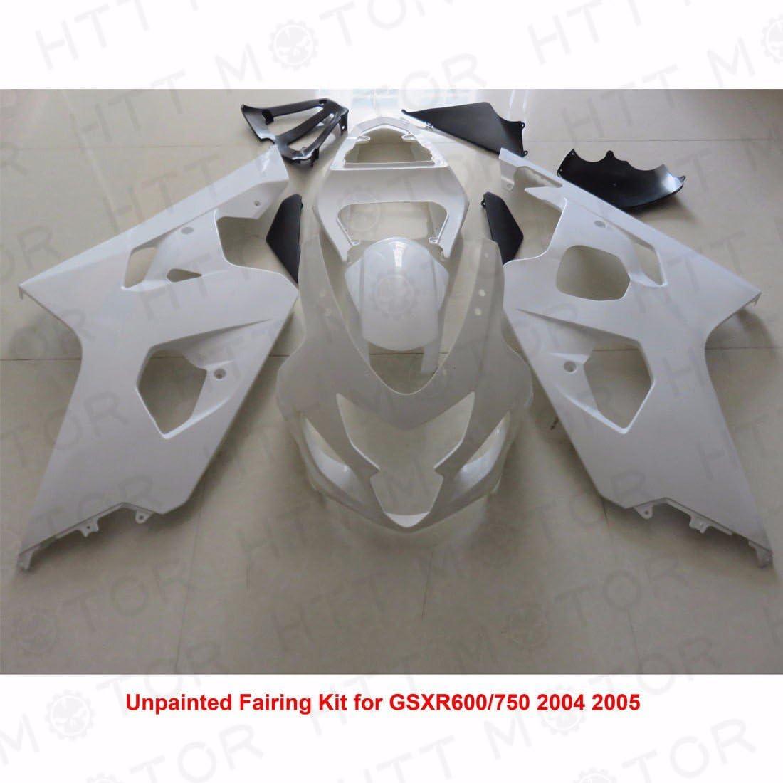 B01MV11NBA XKMT-Unpainted ABS Plastic Injection Fairings Bodywork Compatible With 04-05 Suzuki GSXR 600 750