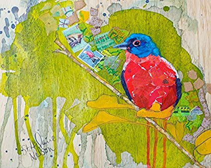 ffd92a0653d Amazon.com  Painted Bunting Art Print