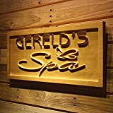 ADVPRO wpa0188 Name Personalized SPA Butterfly Massage Shop Wood Engraved Wooden Sign - Standard 23'' x 9.25''