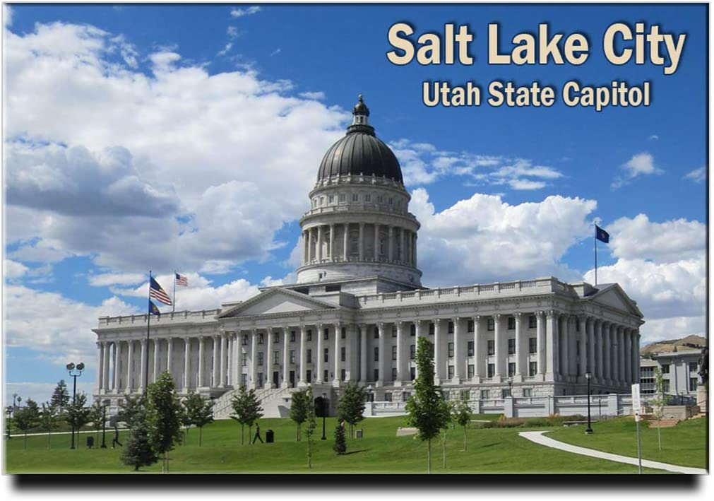 Salt Lake City Fridge Magnet Utah State Capitol Travel Souvenir