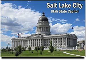 Salt Lake City Fridge Magnet Utah State Capitol Travel Souvenir