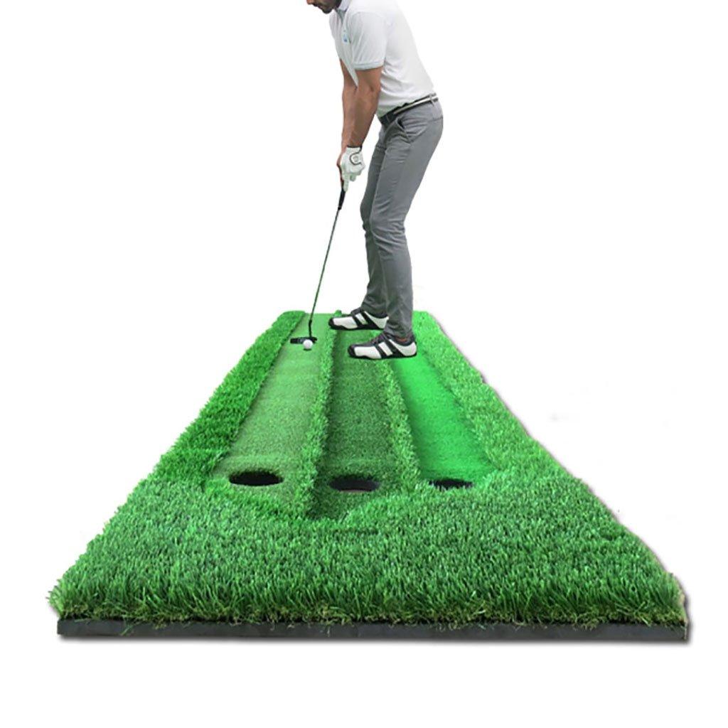 WENZHE ゴルフマットパターマット ゴルフマットグリーンズ3スピードグラス屋内屋外、0.7 * 3m  Ball pad+putter B076SV89VC