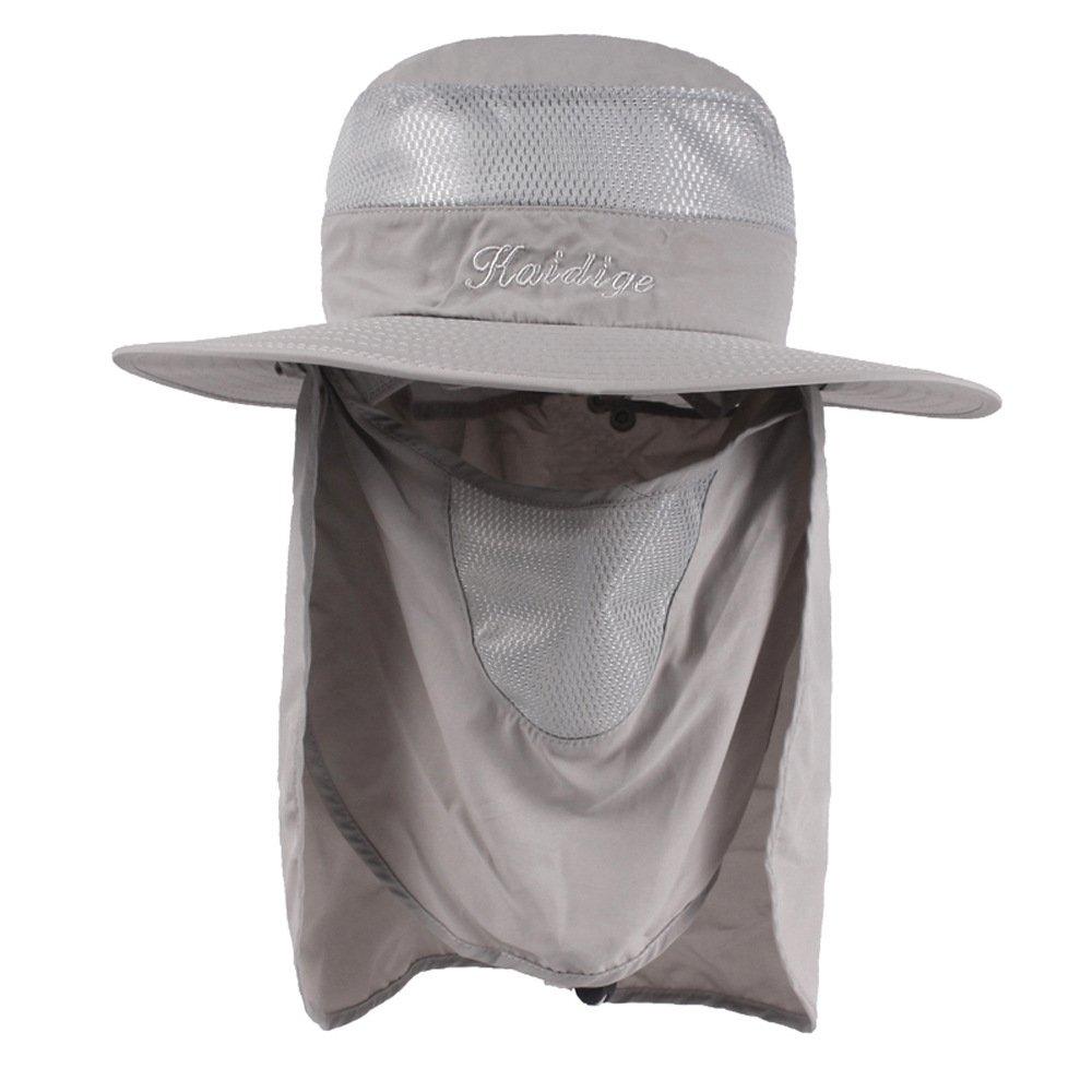 Visera De Verano Al Aire Libre Gorra De Pesca Anti-UV De Secado Rápido Gorra De Protección Solar Climbing Sombrero De Enfermera De Cuello De Enfermería Para Mujer Gorra De Hombre Cuello De Cara Sombrero De Aleta Ala Ancha, Navy HSRG Hats
