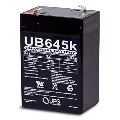 Universal Power Group 6V 4.5AH Battery for Kid Trax Disney Ride on Toy KT1123TR: Home Audio & Theater