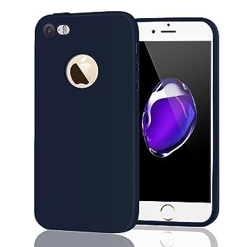 Leton Funda iPhone 5s Silicona Suave Flexible TPU Móvil Carcasa Apple iPhone 5/5s/se Ultra Delgado Ligero Mate Gel AntiChoque Candy Goma Cubierta Case ...