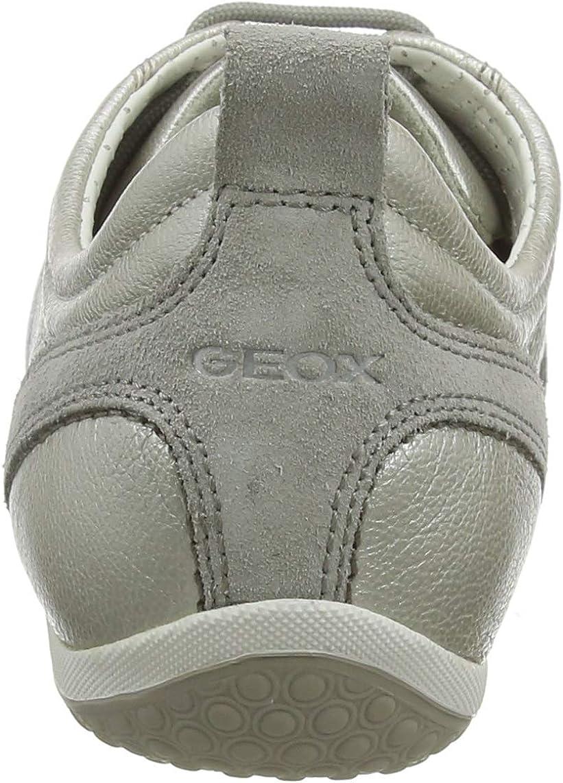 Geox D Vega A, Scarpe da Ginnastica Donna Bianco Blanc Off White Lt Grey RxaIsA