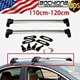 2Pcs Kayak Roof Rack Sedan Universal 110-120cm Cross Bars Luggage Kayak Carrier With Lock