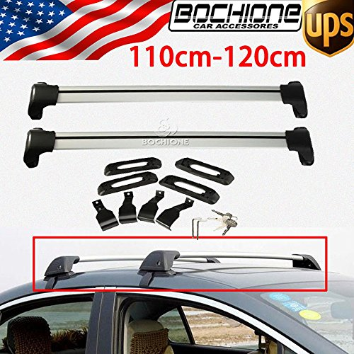2Pcs Kayak Roof Rack Sedan Universal 110-120cm Cross Bars Luggage Kayak Carrier With Lock by Canoe