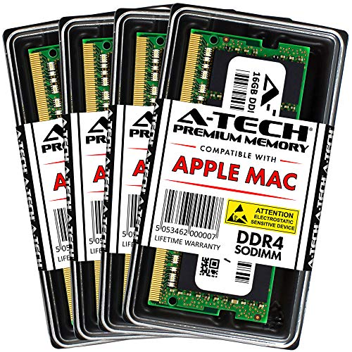A-Tech 64GB Kit (4X 16GB) DDR4 2666MHz PC4-21333 / PC4-21300 260-pin SODIMM for 2019 Apple iMac (Retina 5K, 27-inch) - Memory RAM Upgrade