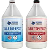 Table Top & Bar Top Epoxy Resin, Ultra Clear UV Resistant Finish, 1-Gallon Kit, Self Leveling, Perfect for DIY Epoxy…