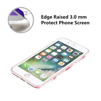 Cute iPhone 6 Plus Case, Girls Red Flamingo Protective Bumper Slim Fit Shockproof Cute Soft Silicone Rubber Glossy TPU Cover Phone Case for Apple ...