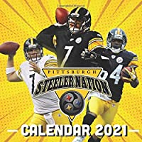 "Image for Pittsburgh Steeler Nation: 2021 Wall Calendar - 8.5""x8.5"", 12 Months - American Football Team Calendar"