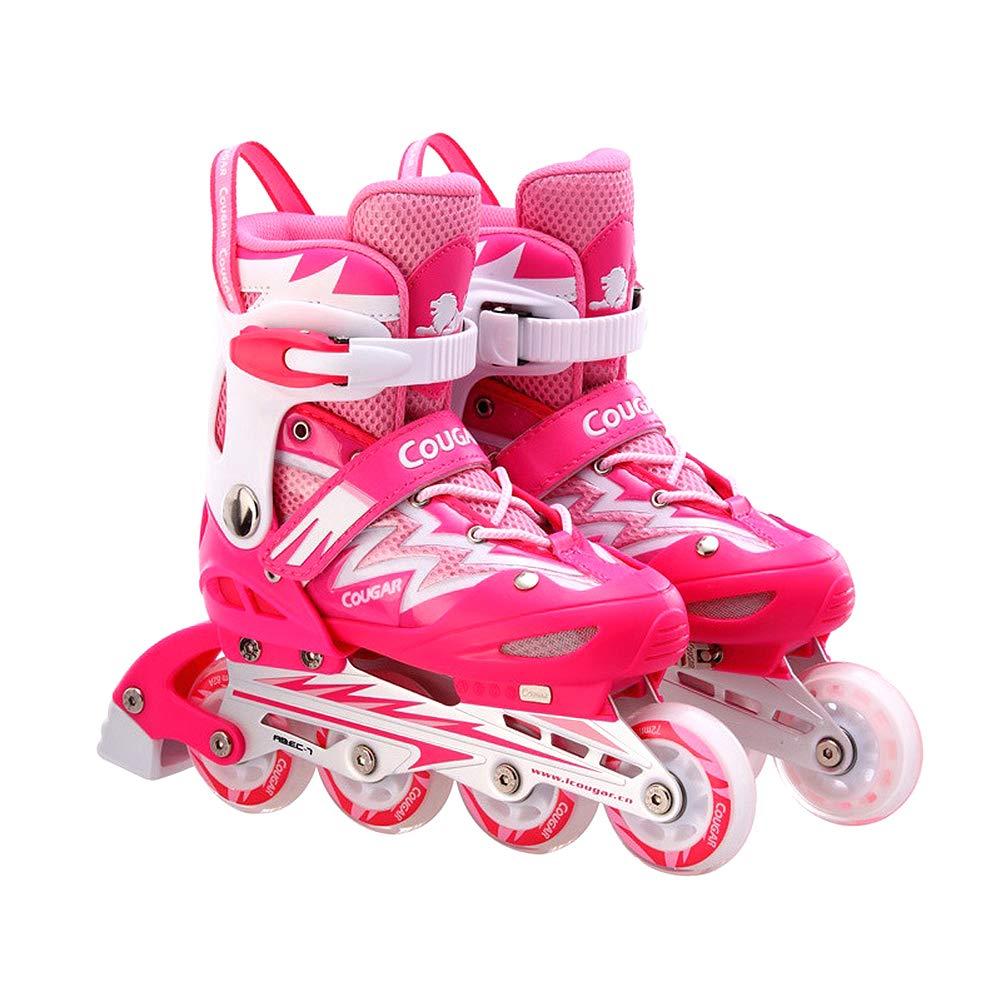 インラインスケートアジャスタブルローラースケート1853 Large B07MCCWLJN Large Pink Large Pink Pink Pink Large, コンタクトショップ ルーク:07a7b756 --- itxassou.fr