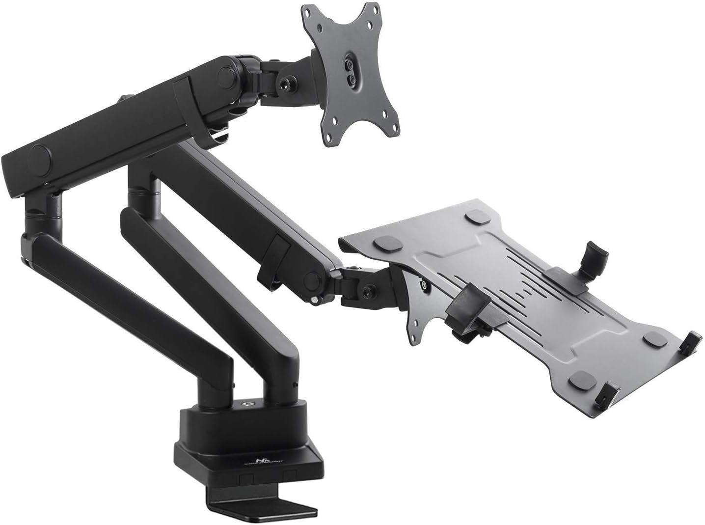 port/átil Pantalla Laptop Altura Monitor MC-811 Triple con Portes USB Integrados rotaci/ón e inclinaci/ón Ajustable Soporte de Escritorio para 2 /ó 3 monitores 100x100 VESA 75x75