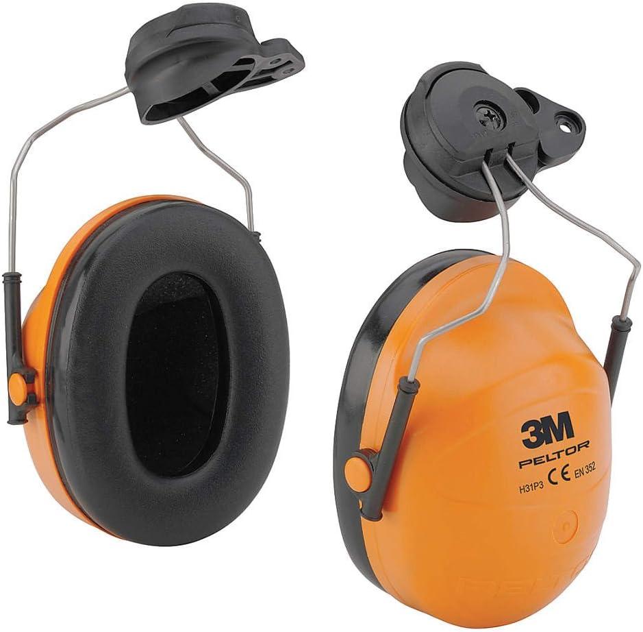 Orange 3M PELTOR 23dB Hard Hat Mounted Ear Muffs
