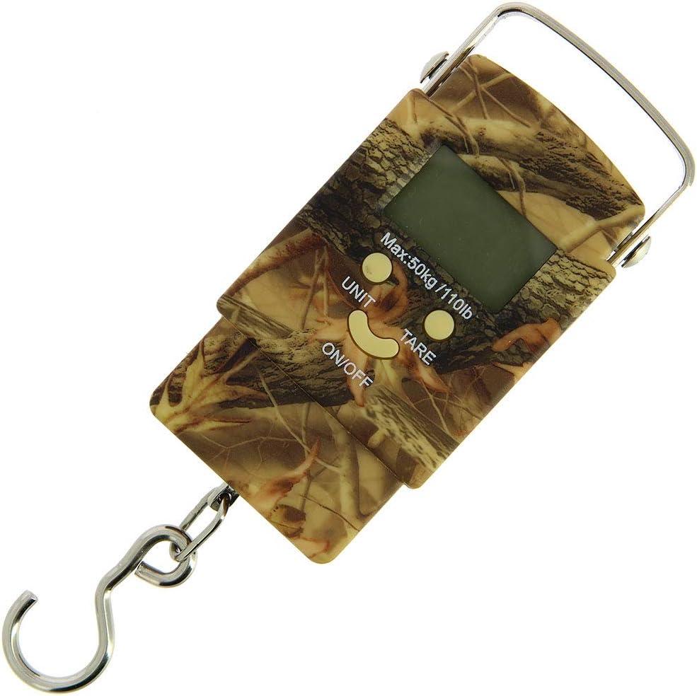 ML kg Poign/ée et /Écran LED lb DNA Nouveau 50kg Num/érique Portable Carpe P/êche /à la Ligne Voyage Poids /Échelle avec Crochet