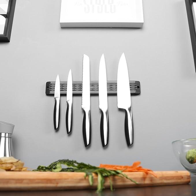 Diamond Magnetic Knife Strip Holder Rack - Modern Diamond Design 13 inch-2 Pack丨Enhanced Powerful Magnet| Kitchen Storage Display Organizer Easy ...