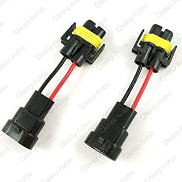 61tChaDYwXL._SY355_ amazon com classy autos 9006 to h11 h8 headlights conversion pigtail wiring harness at gsmx.co