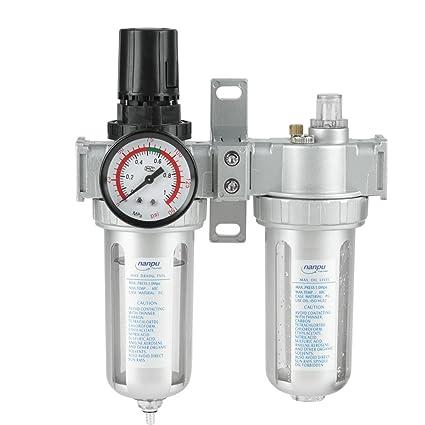 Haofy Separador Agua Aceite Regulador del Filtro de Aire Neumática Compresor de Filtro de Aire 1
