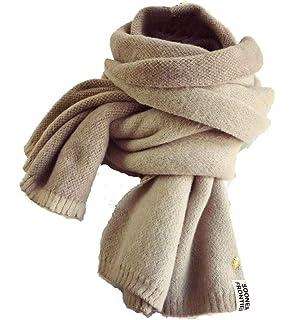 YJZQ Femme écharpe en laine écharpe cachemire artificielle Foulard à Tricot Écharpe  hiver contre froid Foulard Long décore… c0afb0a6940