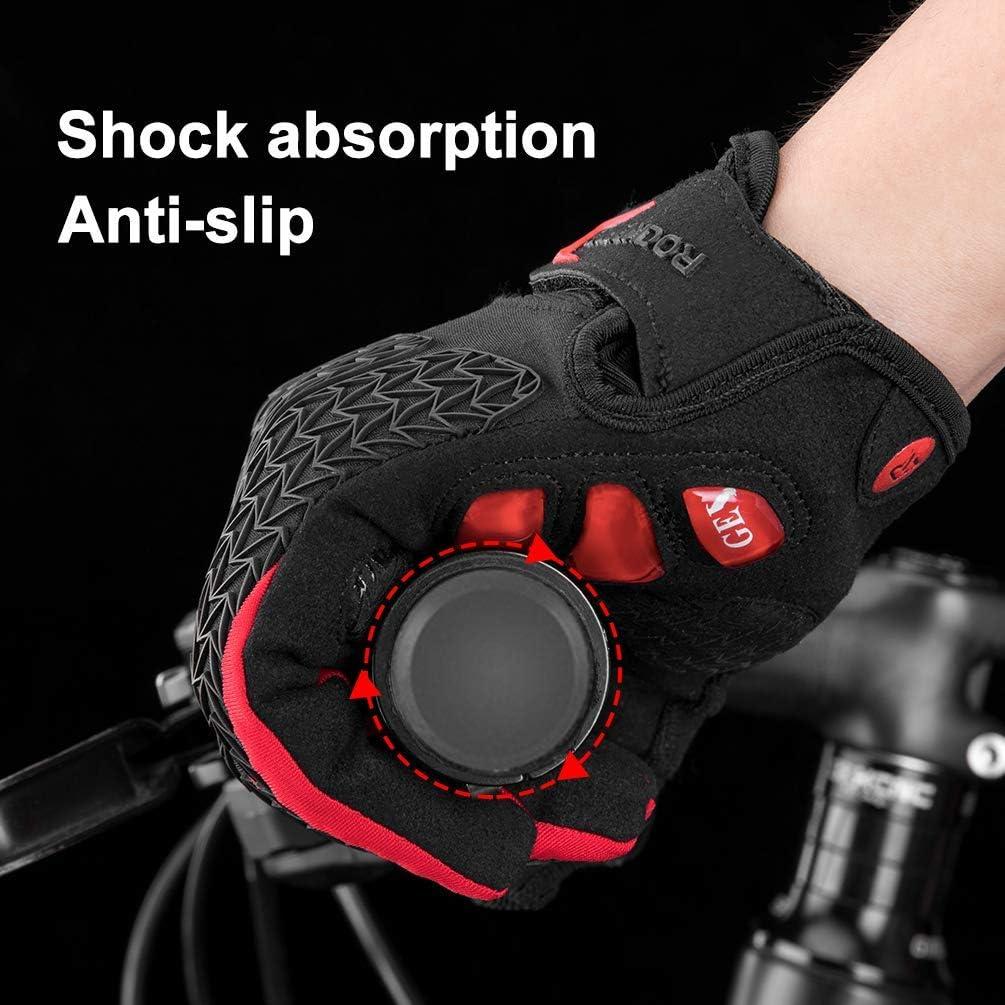 ROCKBROS Gants Velo VTT Homme Anti-Choc Anti-d/érapant avec Gel Rembourr/é pour Cyclisme /Écran Tactiles Respirant Noir Rouge M-2XL