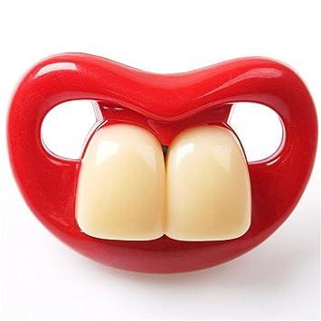 Harmon divertido Chupete boca bebé chupetes dientes Anillo ...
