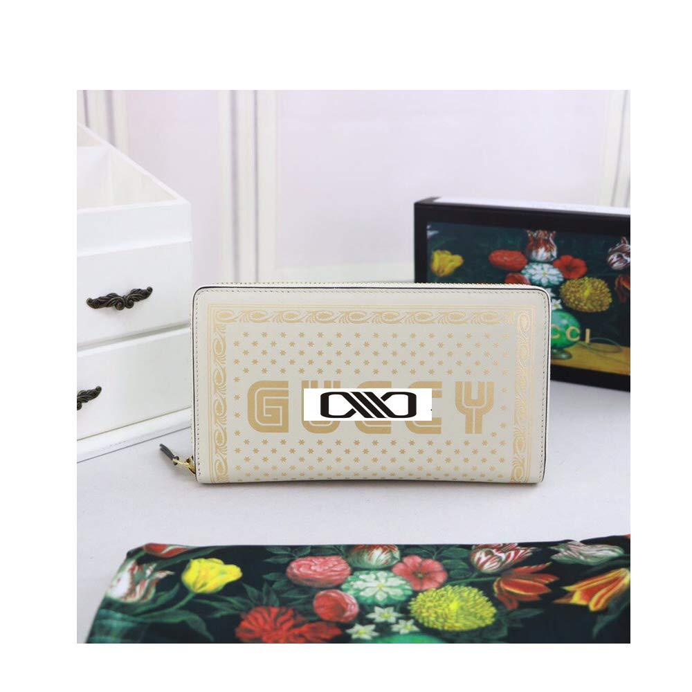 プリントレザー フルプルチェーン財布 one size ホワイト B07KVK7T9Y ホワイト