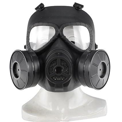 UKCOCO Máscara protectora táctica, máscara del gas tóxico tonto del cráneo Máscara protectora para el