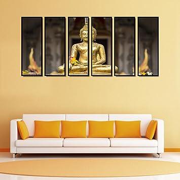 Amazon.com: 999Store multiple frames canvas printed Golden buddha ...