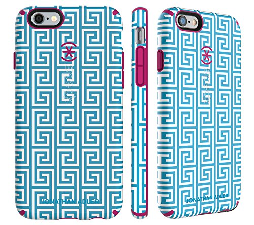 Speck 74011-5129 CandyShell Johnathan Adler AquaGreekKey/Lipstick Matte Harte Schutzhülle für Apple iPhone 6/6S Plus (5,5 Zoll)
