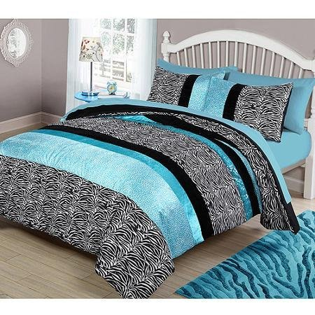 Your Zone Teal Animal Bedding Comforter Set - FULL/QUEEN