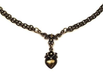 Amazon.com: 8th Wedding Anniversary Gift - Vintage Heart Bronze ...